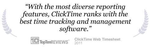 ClickTime ranks with the best time tracking and management software.