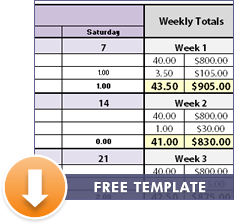 free monthly excel timesheet download
