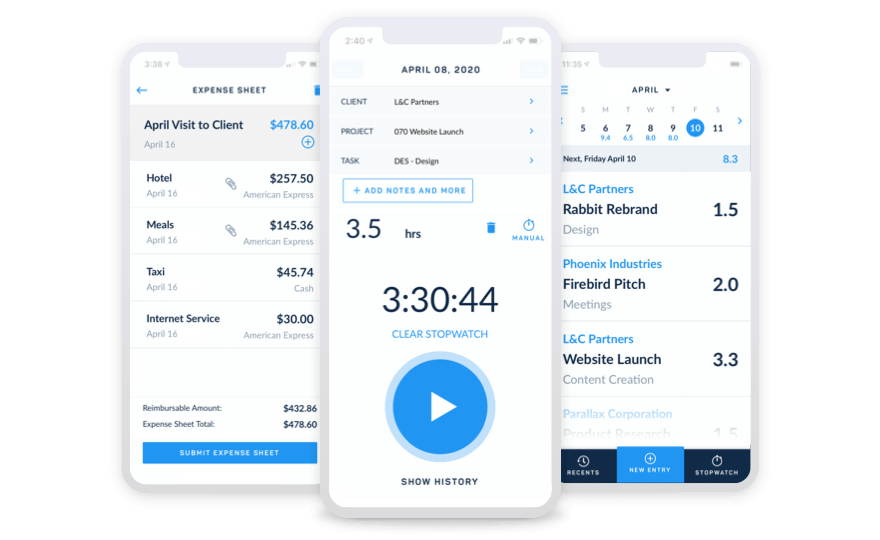 Mobile Timesheet Time Expenses App