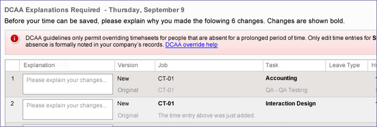 online timesheets dcaa explanations ClickTime