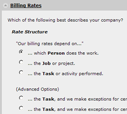 online timesheets billing rates ClickTime