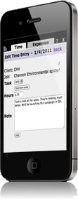 online timesheets mobile iphone ClickTime